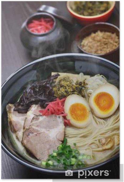 japanese tonkotsu ramen, pork bone broth noodles Poster