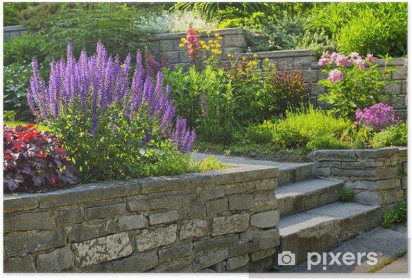 Poster Jardin avec pierre d\'aménagement paysager