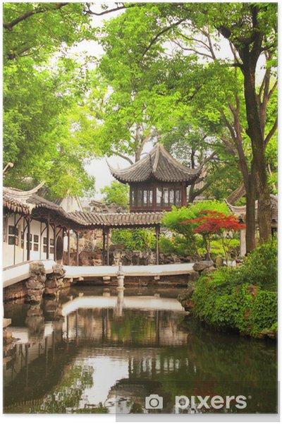 Poster Jardin de l'Humble Administrateur de Suzhou, Chine - Asie