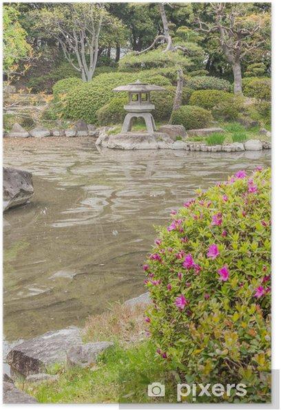 Poster Jardin de style japonais. - Propriétés privées
