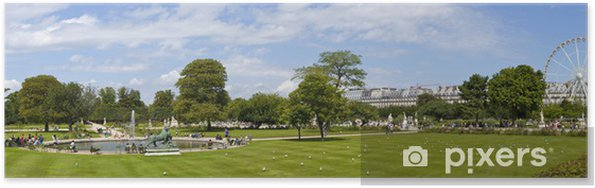 Poster Jardin des Tuileries à Paris - Villes européennes