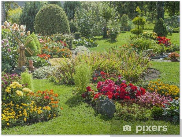 Poster Jardin fleuri et paysagé • Pixers® - Nous vivons pour changer