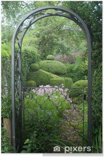 Poster Jardin romantique à l\'anglaise • Pixers® - Nous vivons pour ...