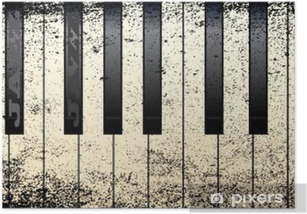 Jazz Style Piano Poster - Piano