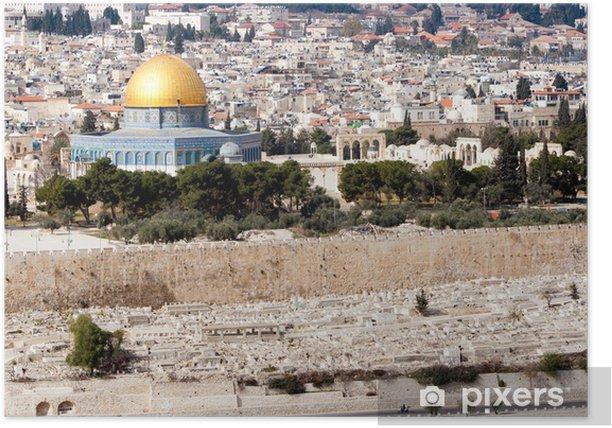 Poster Jérusalem Israël - Moyen Orient