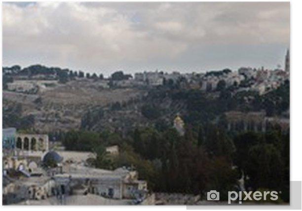 Poster Jérusalem - une ville de trois Religions.Panorama - Moyen Orient