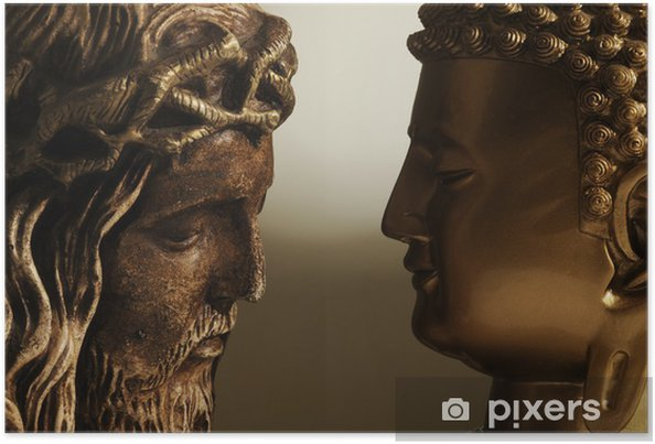 Poster Jesús Cristo y Buda - 3 - Teman