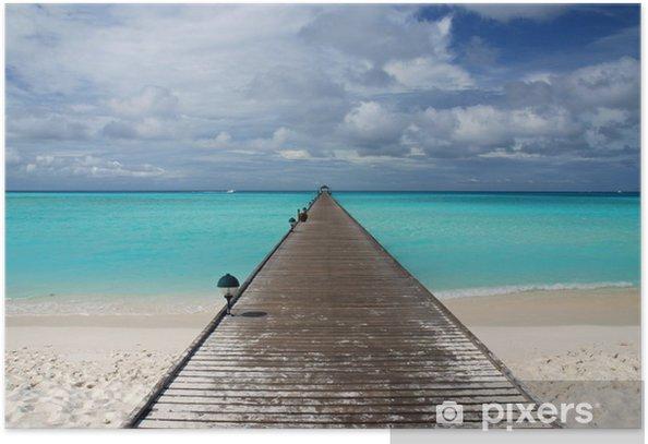 Poster Jetée de l'île - Vacances