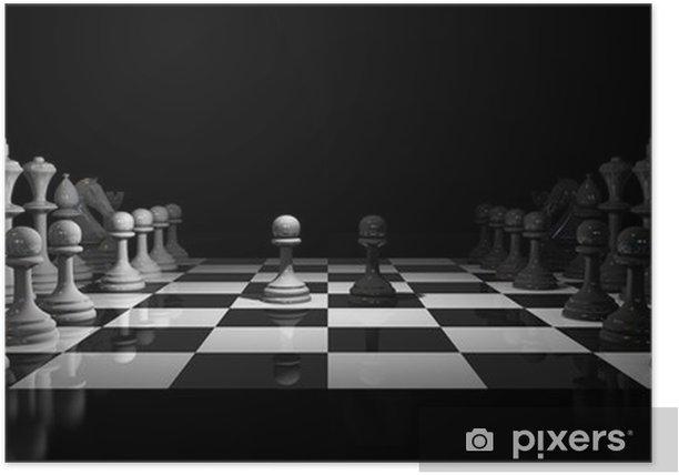 Poster Jeu d'échecs -