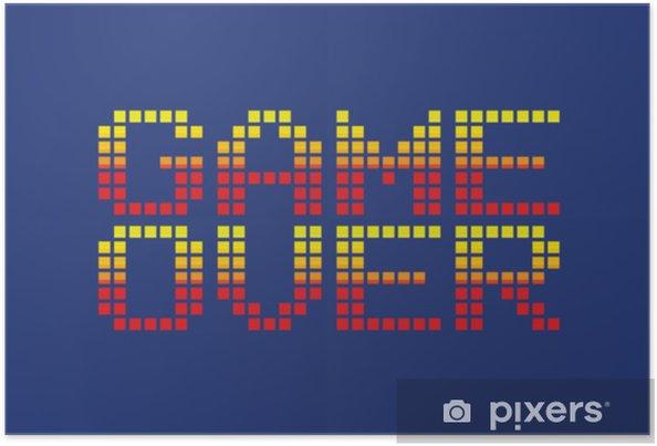 Poster Jeu De Style Vecteur Pixel Art Sur Message