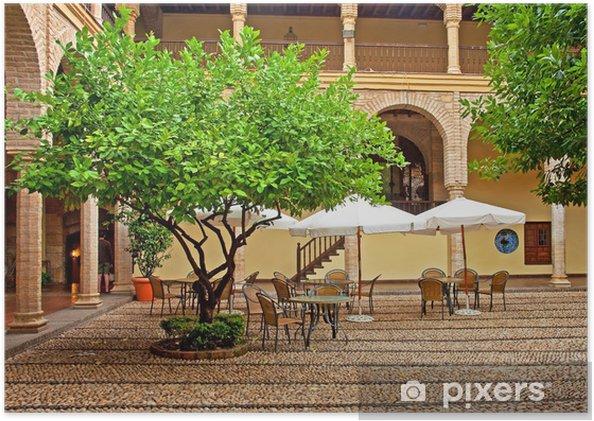 Poster Joli patio à Cordoue, Espagne - Europe
