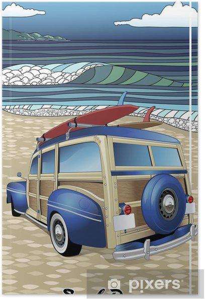 Poster Jour Surf - Vacances