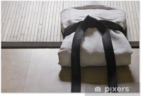 judo gi with black belt Poster - Martial arts