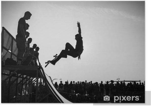 Jump Poster - Skateboarding