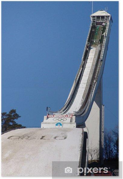 jumping hill Poster - European Cities