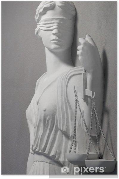 Póster Justicia estatua - Justicia