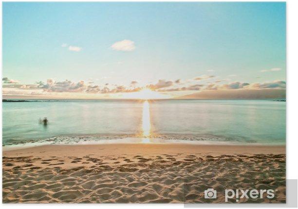 Kaanapali Beach In Maui Hawaii Poster