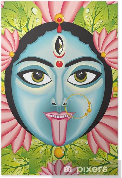 Kali - Indian Goddess face. Poster - Religion