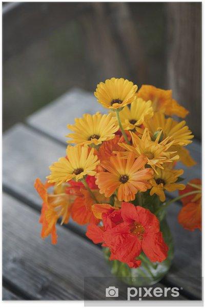 Poster Kapuzinerkresse - Fleurs