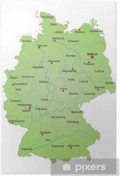 Karte Deutschland Vektor Poster Pixers We Live To Change