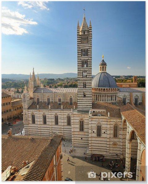 Kathedraal Van Siena.Poster Kathedraal Van Siena Duomo