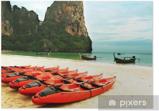 Poster Kayac - Eau