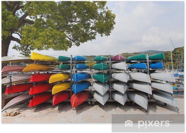 Poster Kayaks colorés à louer - Concepts