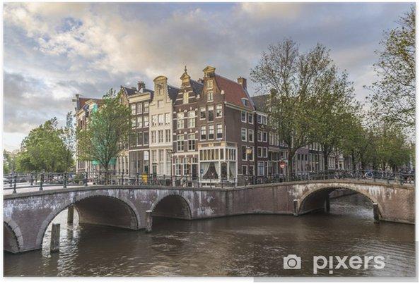 Poster Keizersgracht in Amsterdam, Nederland. - Europese steden