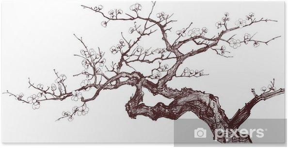 Poster Kerseboom - Stijlen