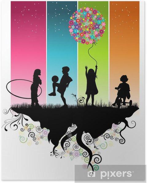 Poster Kinderen spelen - Bestemmingen