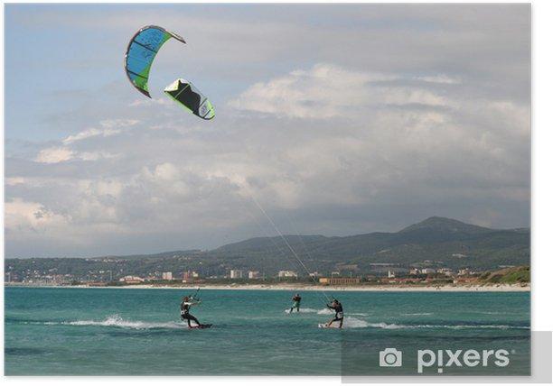 Poster Kitesurf - Sports aquatiques