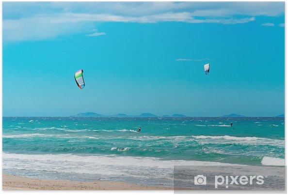 Poster Kiting - Sports aquatiques