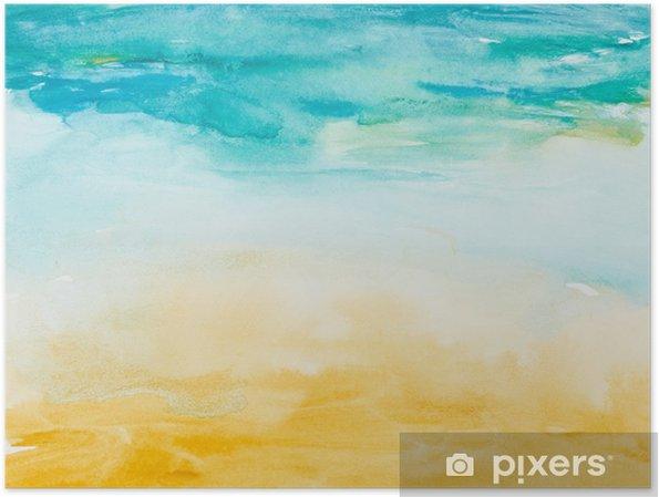 Poster Kleur lijnen aquarel schilderij kunst - Thema's