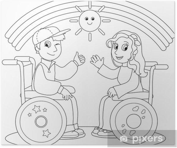 kleurplaten rolstoel kleurplaat