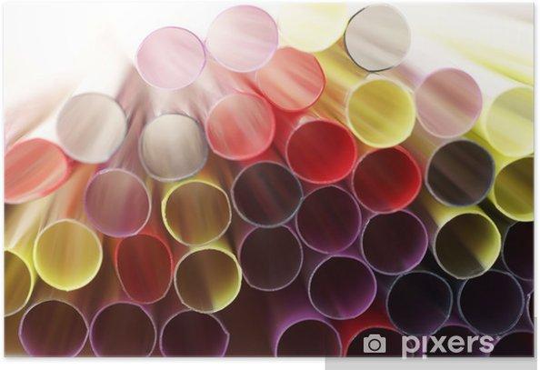 Poster Kleurrijke abstracte achtergrond - Achtergrond