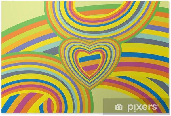 Poster Kleurrijke Regenboog Achtergrond - Achtergrond