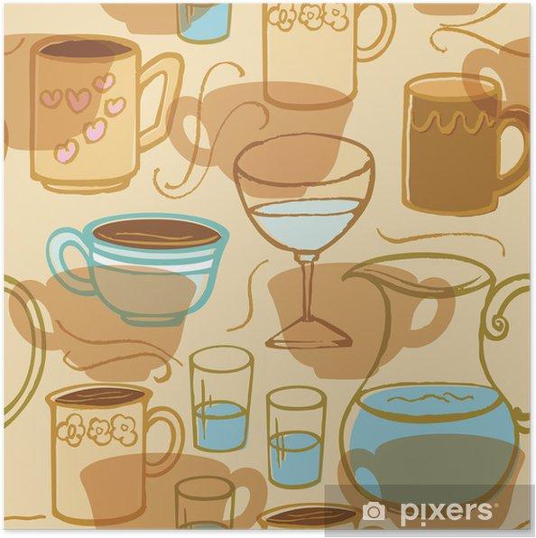 Poster Koffie Thee Drinken - Maaltijden