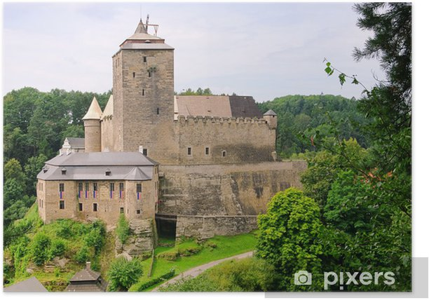 Poster Kost Burg - château Kost 02 - Europe
