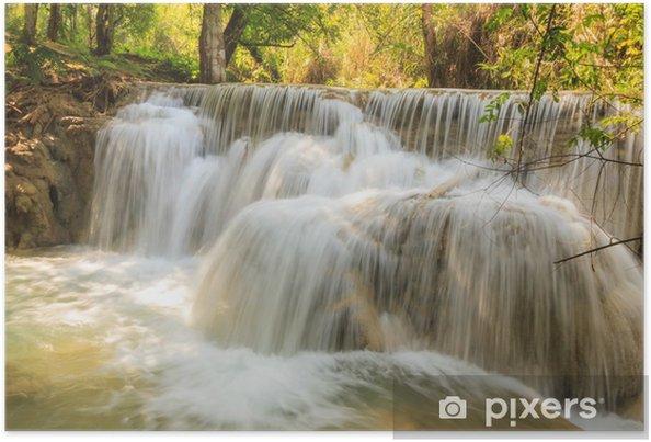 Poster Kuang Si Chutes d'eau au Laos. - Thèmes