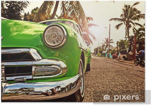 Kuba, Oldtimer in Havanna Poster - Travel