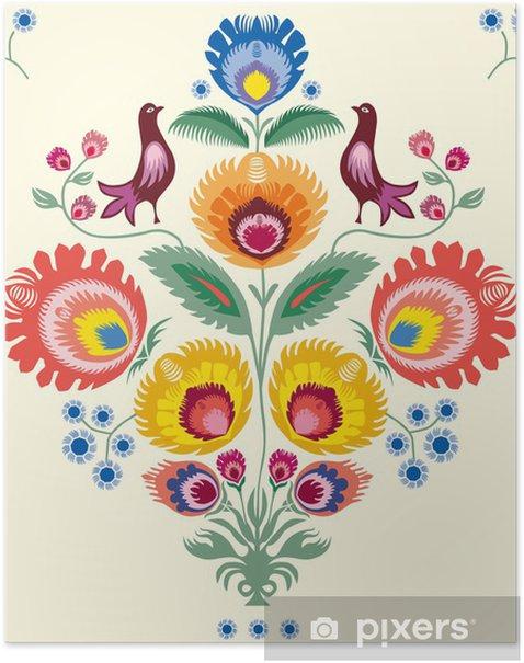Kwiaty lowickie Poster - Styles