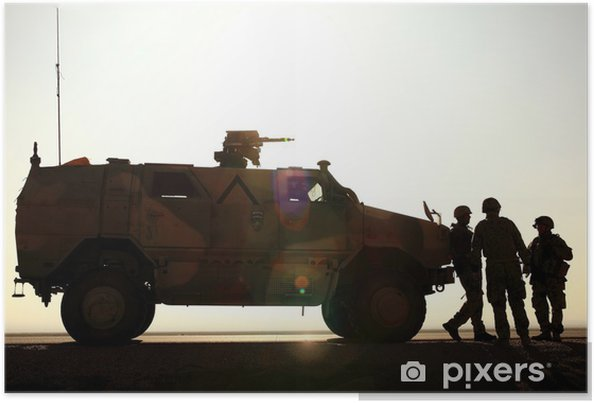 Poster L'armée allemande en Afghanistan - Au travail