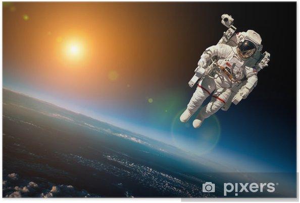 Poster L'astronaute dans l'espace - Espace