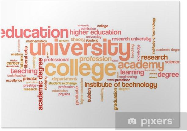Poster L'éducation de l'Université - nuage de mots - Signes et symboles
