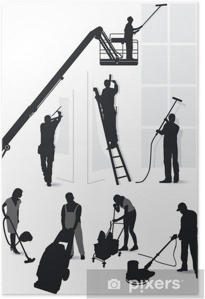 Poster L'entretien des bâtiments et de nettoyage - Industrie lourde