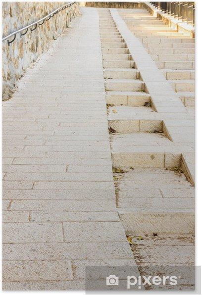 Poster L'escalier d'escalade - Propriétés privées