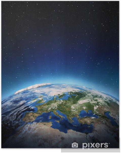 Poster L'Europe de l'espace - Terre