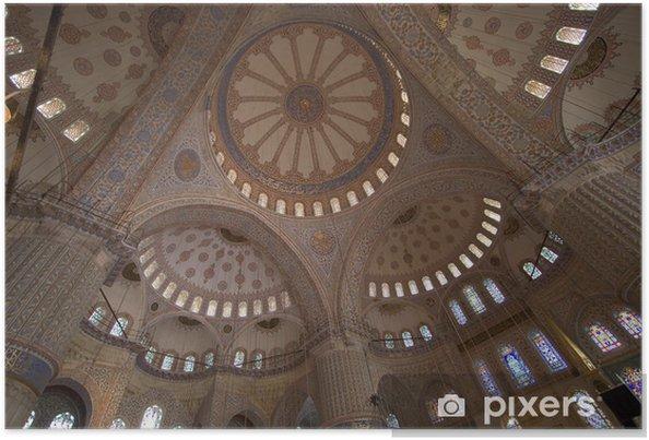 Poster L'intérieur de la mosquée bleue - Moyen Orient