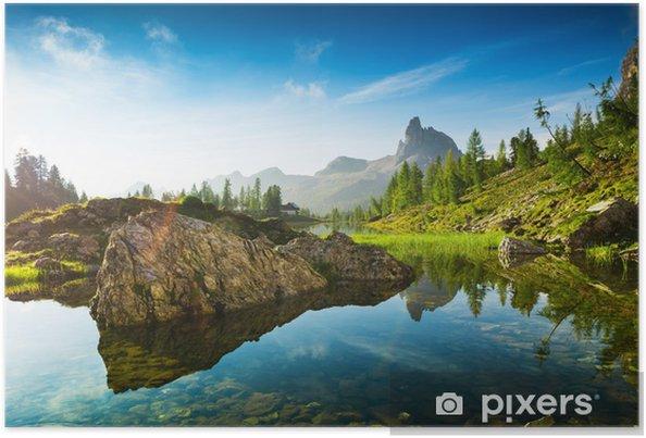 Poster La belle Lago Di Federa Voir tôt le matin - Sports d'extérieur