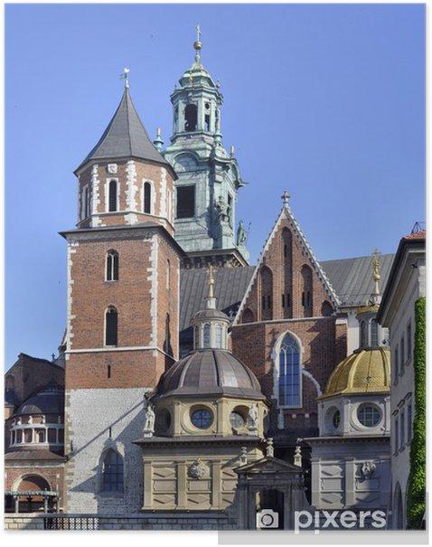 Poster La cathédrale du Wawel à Cracovie, en Pologne - Europe